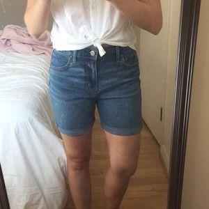 GAP Denim High Waisted Shorts